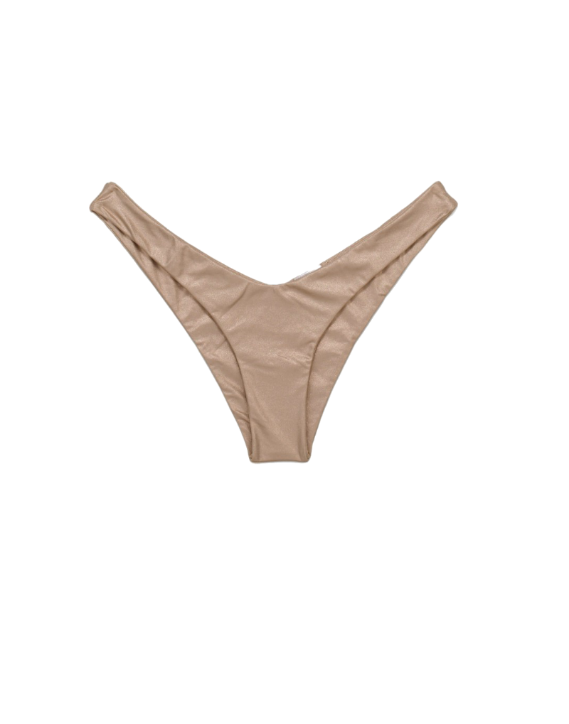 Beach Bunny Luna High Leg bikini bottom in rose gold