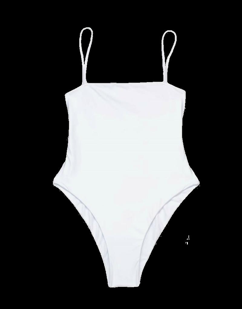 Beach Bunny Luna One Piece in white