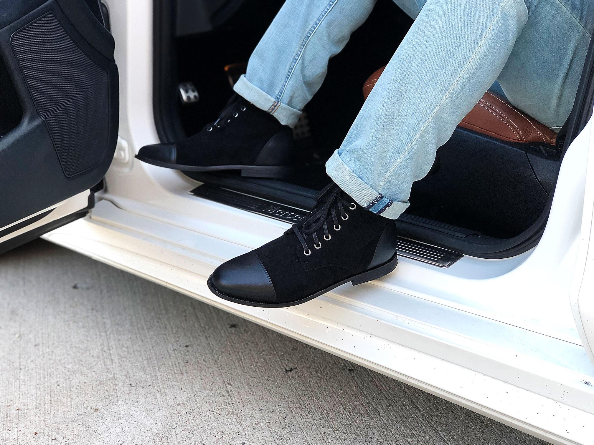 dara shoes mens asti boot in black