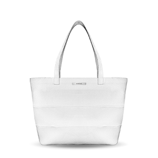 Tote diaper computer bag vegan or real leather