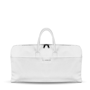 Blanc_Marguerite_travel_duffle_weekender_bag_custom_vegan_real_leather