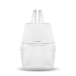 Thalia backpack computer diaper custom vegan real leather