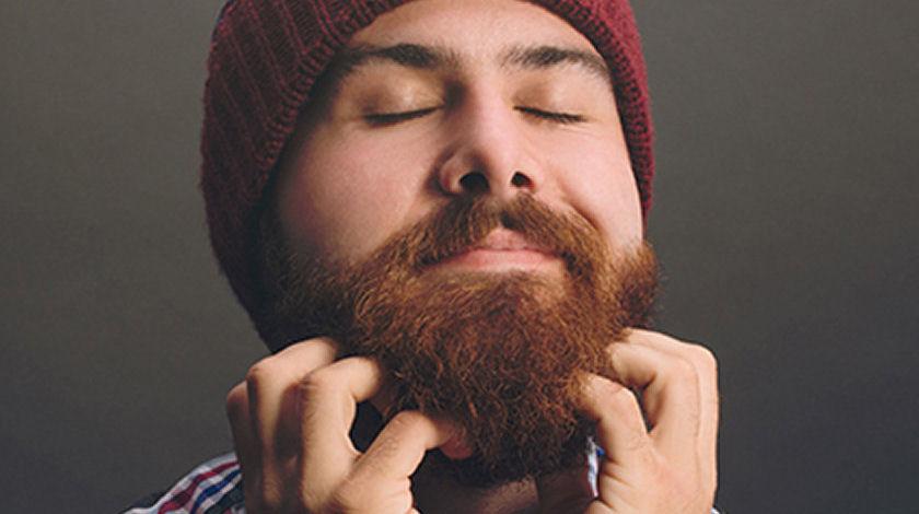 applying beard oil
