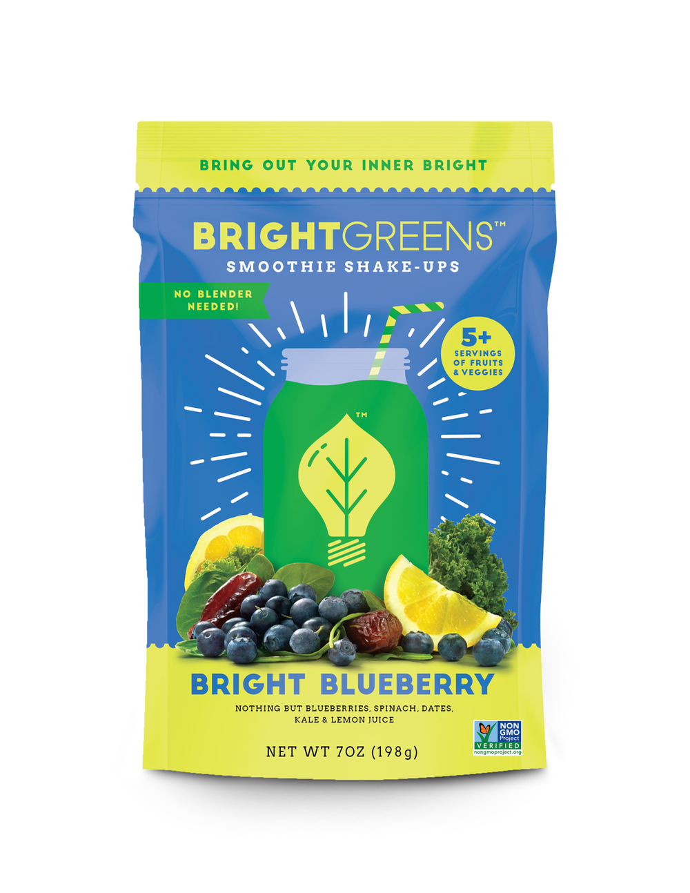 Bright Greens Smoothie Shake Ups Bright Blueberry