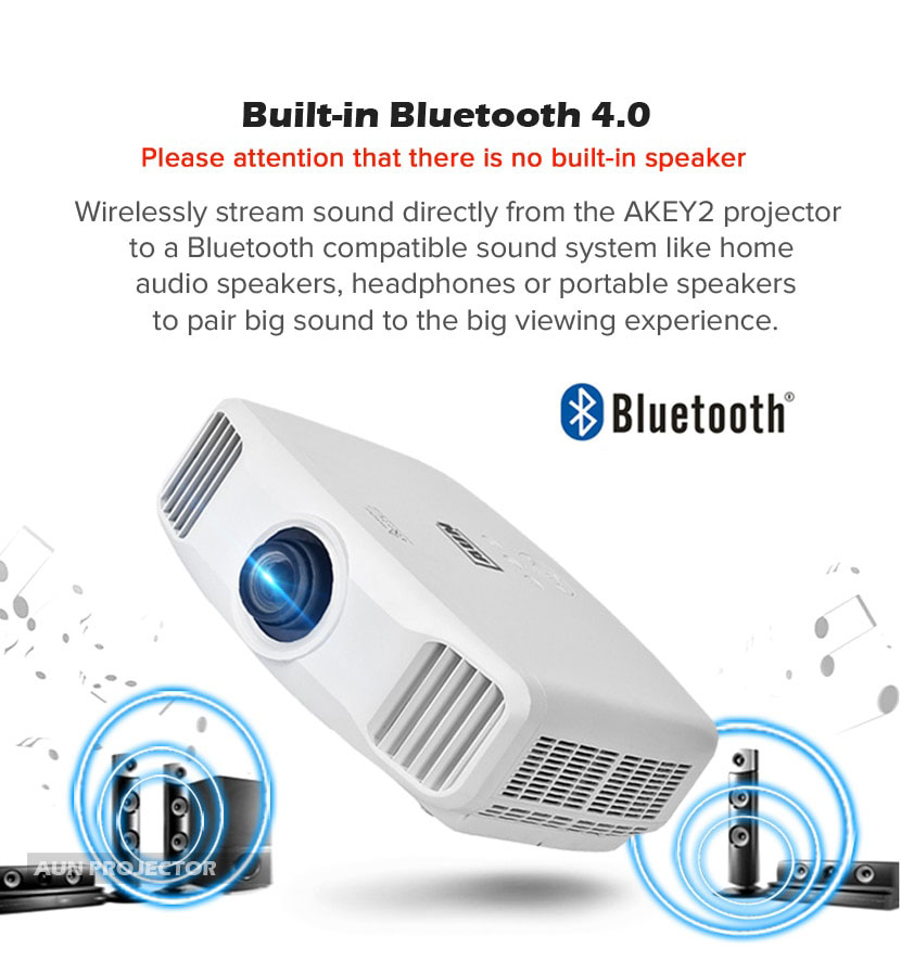 Bluetooth 4k gaming projector