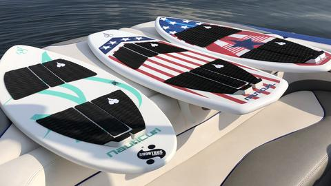 american flag wakesurf boards with stars and stripes on surf board