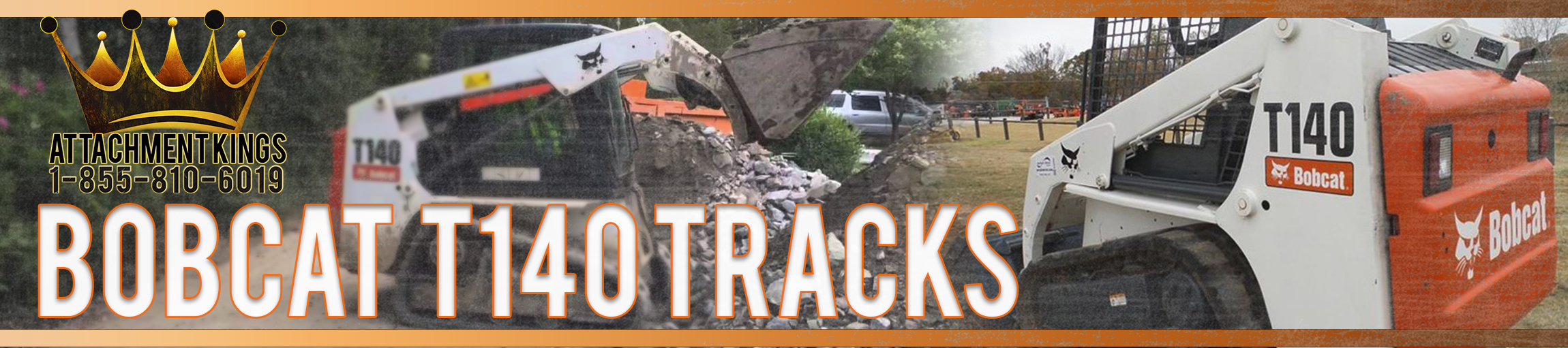 Replacement Tracks for Bobcat T140