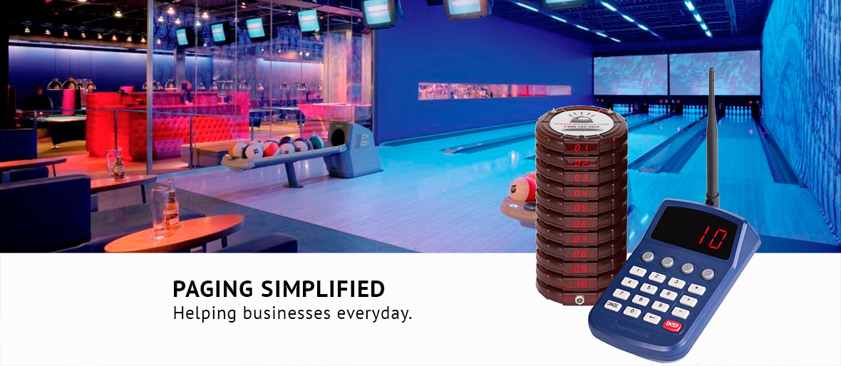 Wireless Pagers for your bowlers