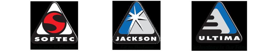 Softec, Jackson, and Jackson Ultima logos
