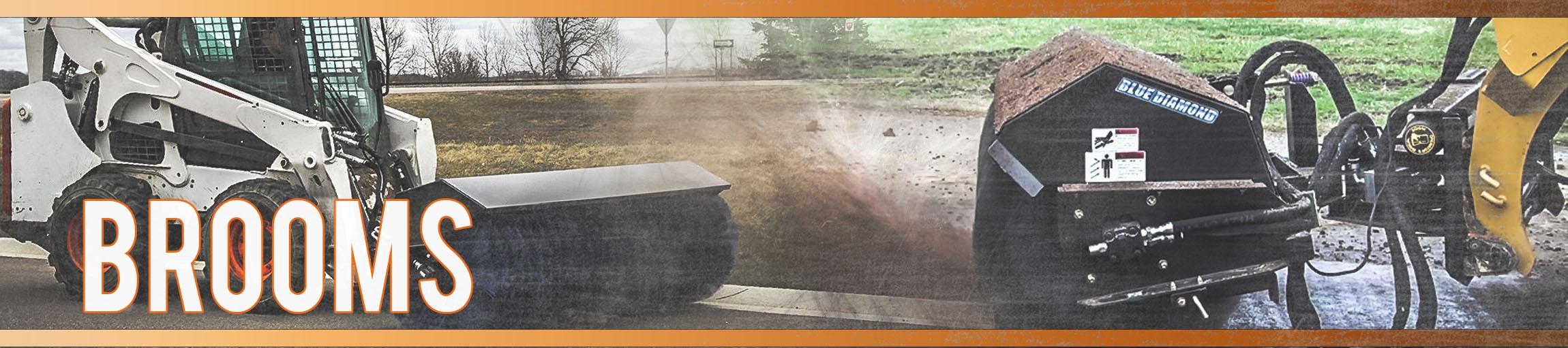 Skid Steer Push Broom Angle Broom Pick Up Broom