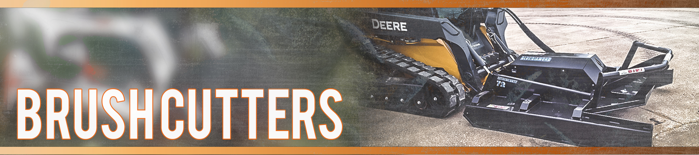 Closed and Open Front Brushcutters For Skid Steer And Track Loader Machines