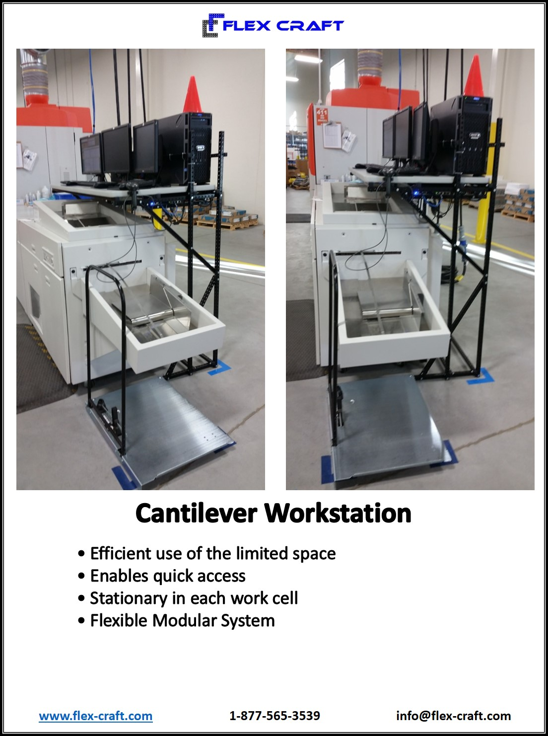 Cantilever Work Station