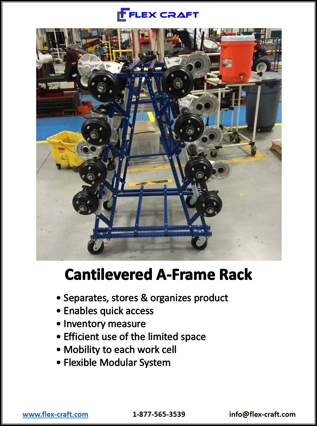 A Frame Horizontal Parts Rack