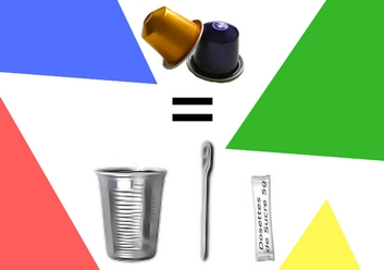 capsule commandé consommables gobelets plastiques offerts