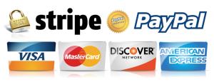 Stripe Paypal Visa Mastercard american express