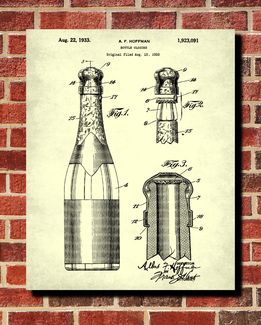 champagne bottle patent