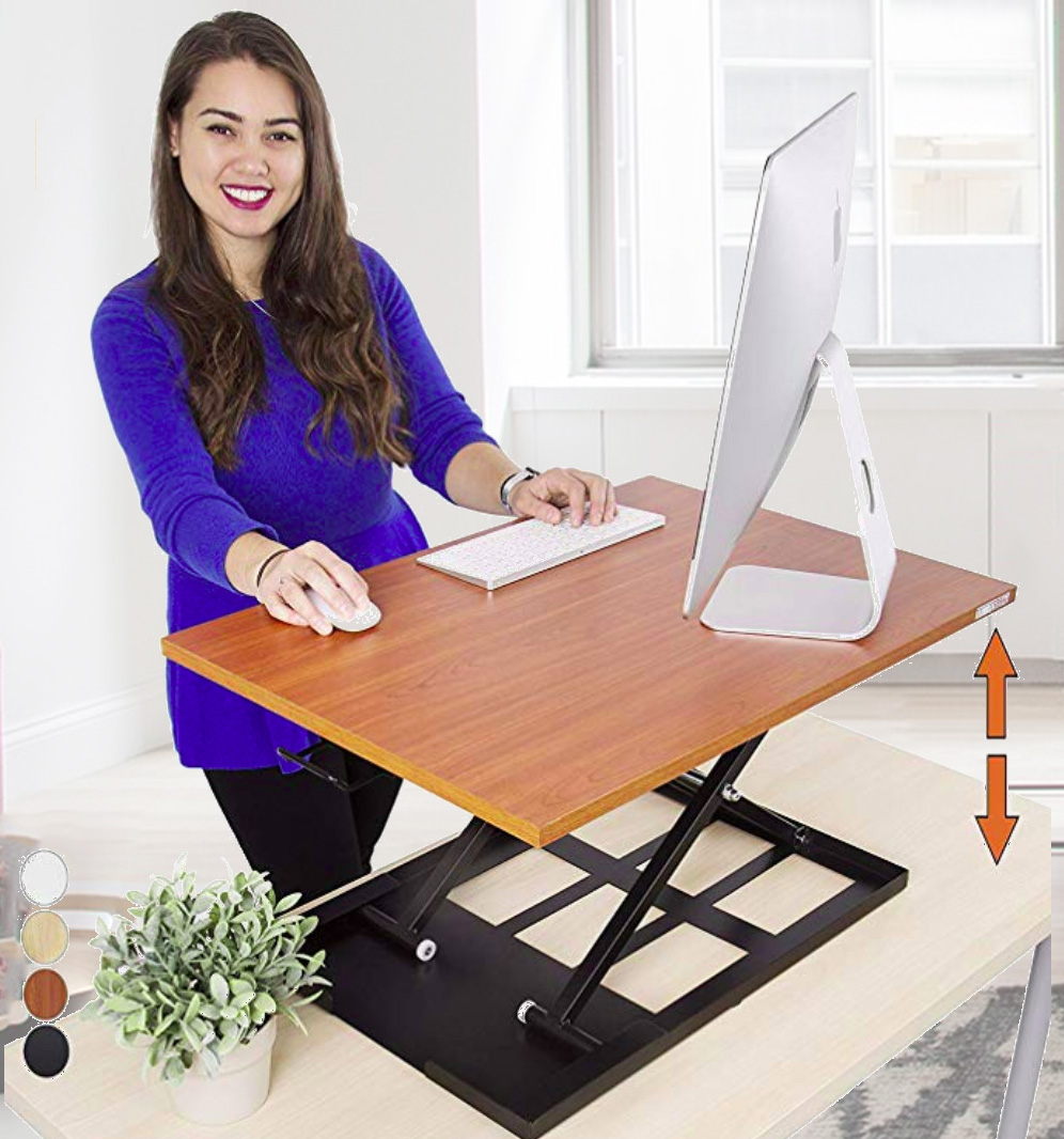 Cherry Standing Desk X-Elite Pro by Stand Steady