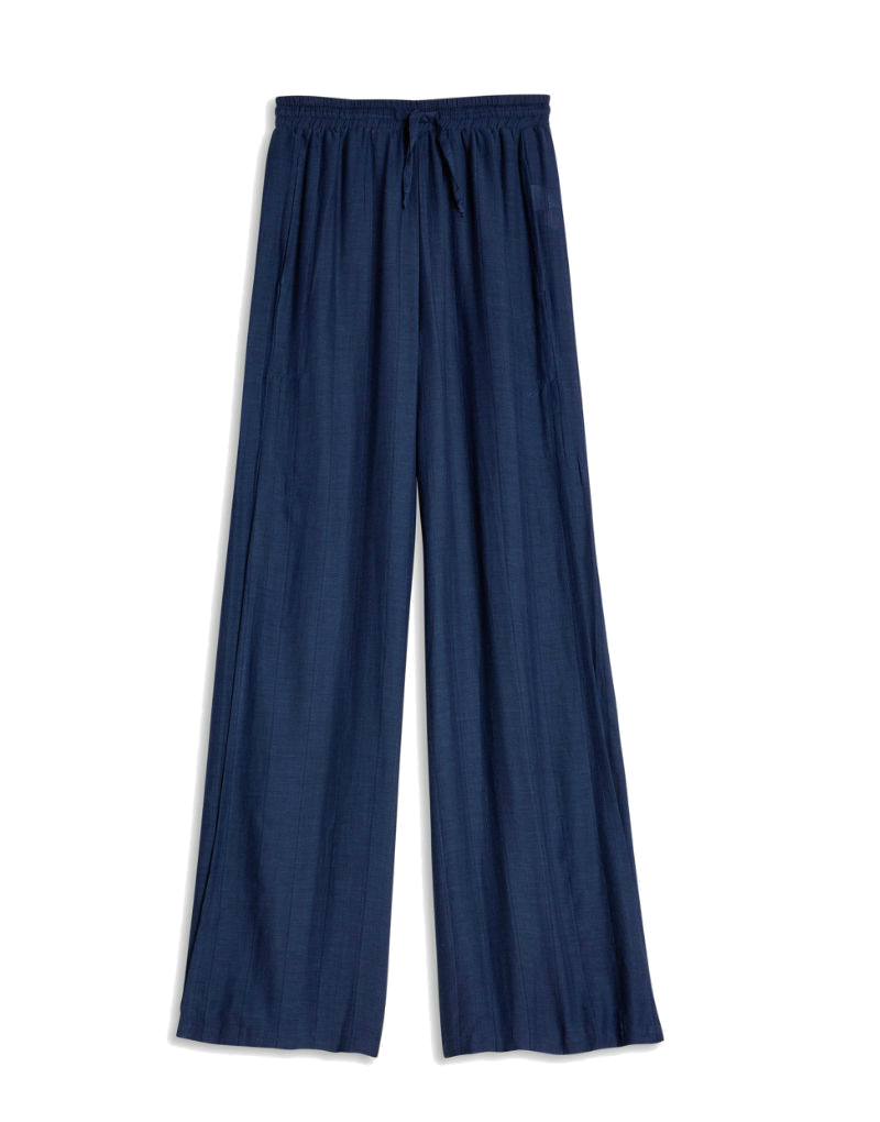 Onia Chloe Wide Leg Beach Pant in navy