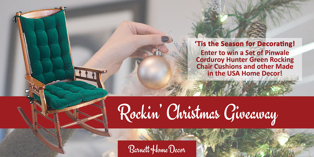 Christmas Rocking Chair Cushions Giveaway 2018 Barnett