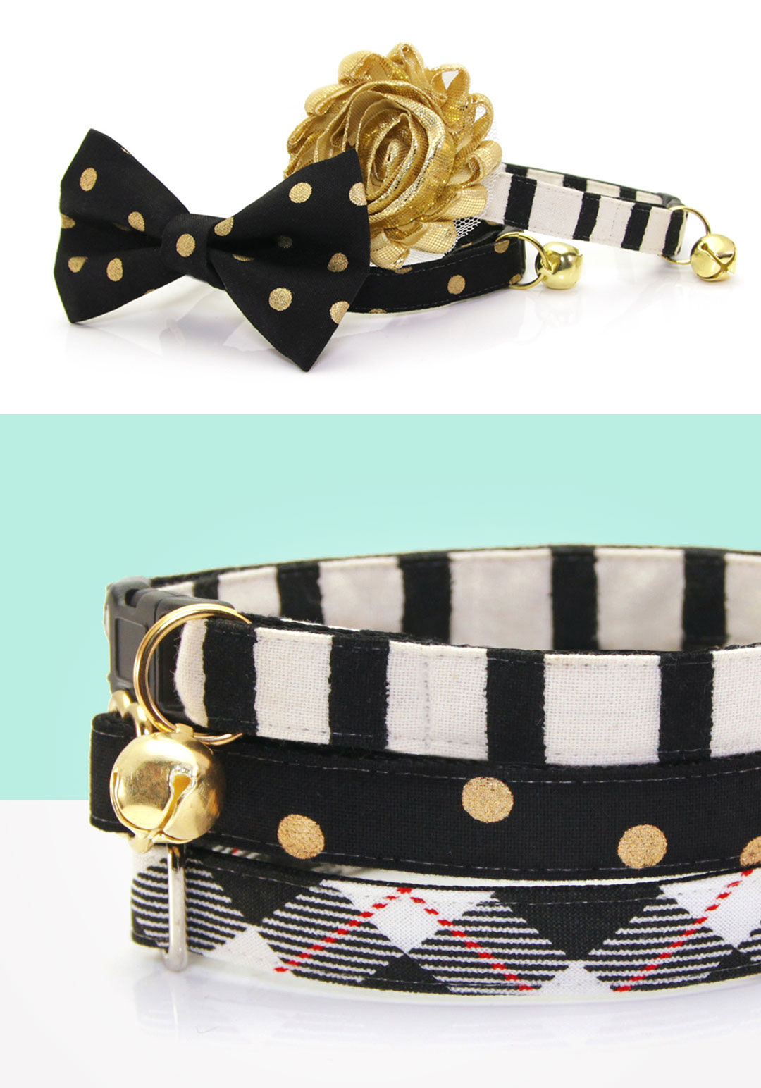 33ecc14bce43 Designer Cat Collars, Kitten Collars, Bow Ties + Accessories, Made By Cleo®