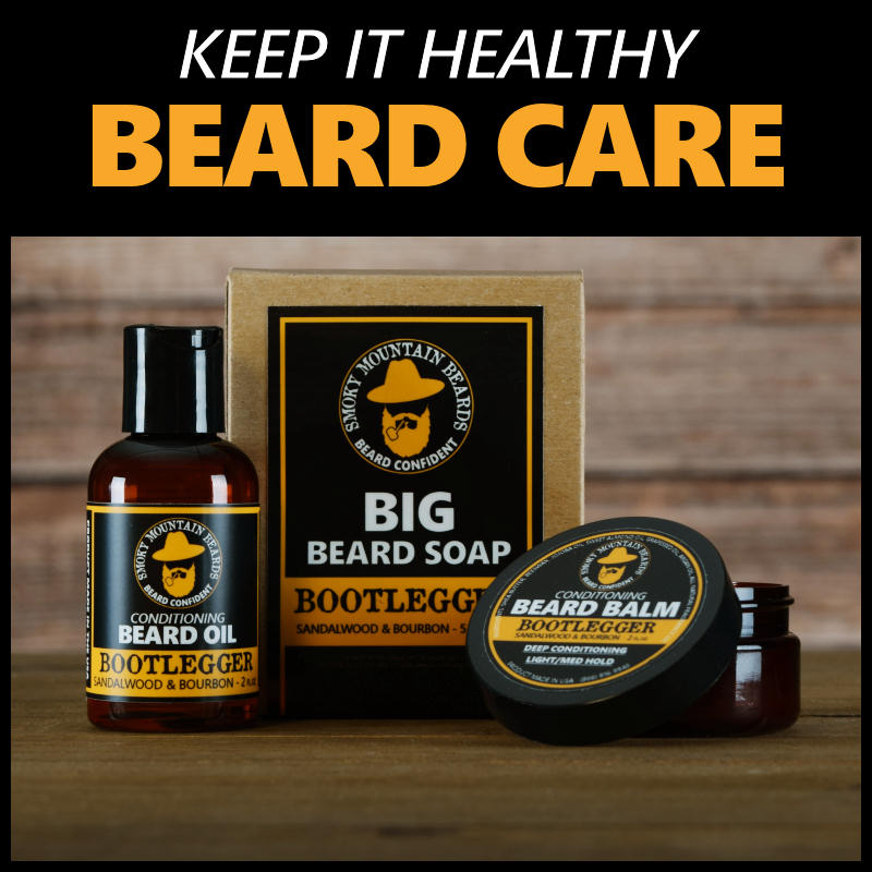 beard care products - oils, balms, wash, soap