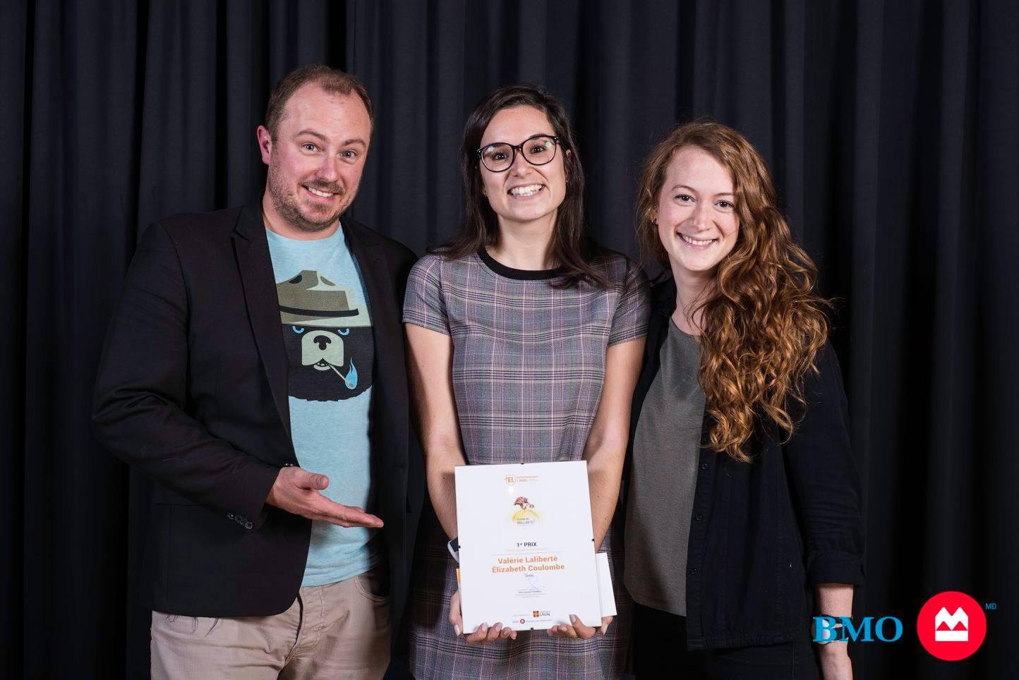 Elizabeth et Valérie remporte le 1er prix au concours Idées d'entreprises