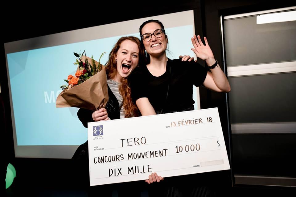 Valérie et Elizabeth remporte une bourse de 10 000$ au concours Mouvement