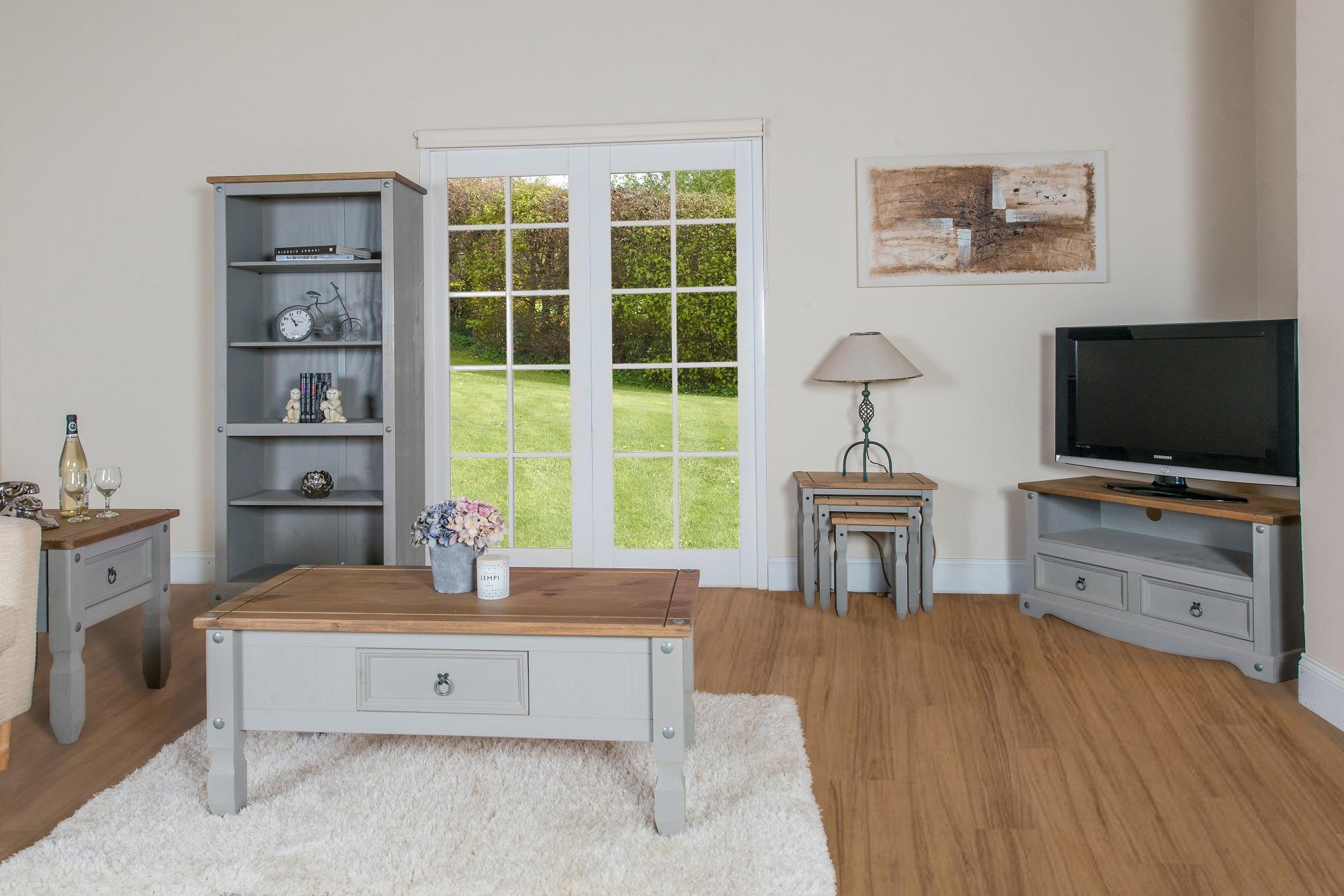 grey wooden furniture