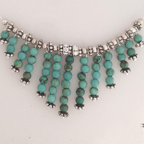 Custom made turquoise cleopatra necklace