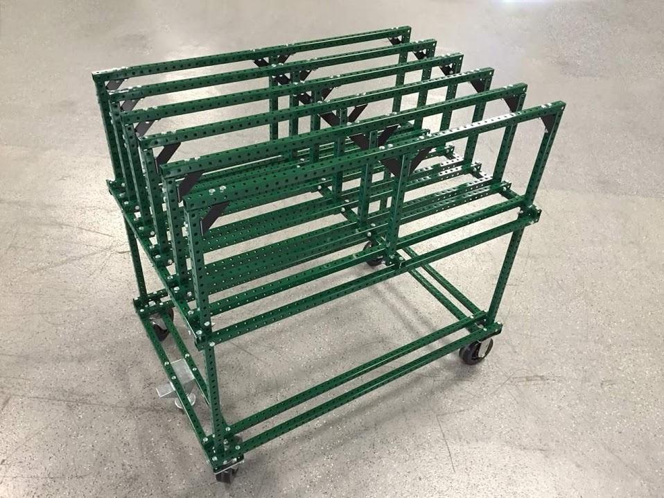 Horizontal Slot Storage Cart