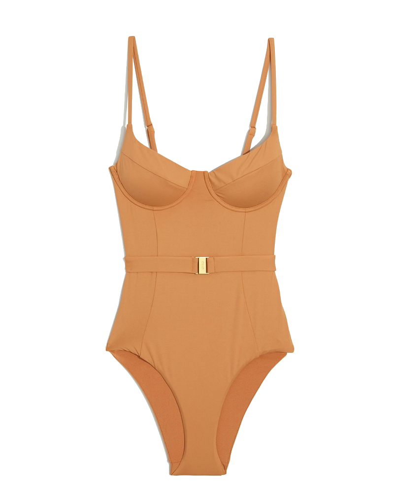 Onia x WeWoreWhat Danielle one piece in nude