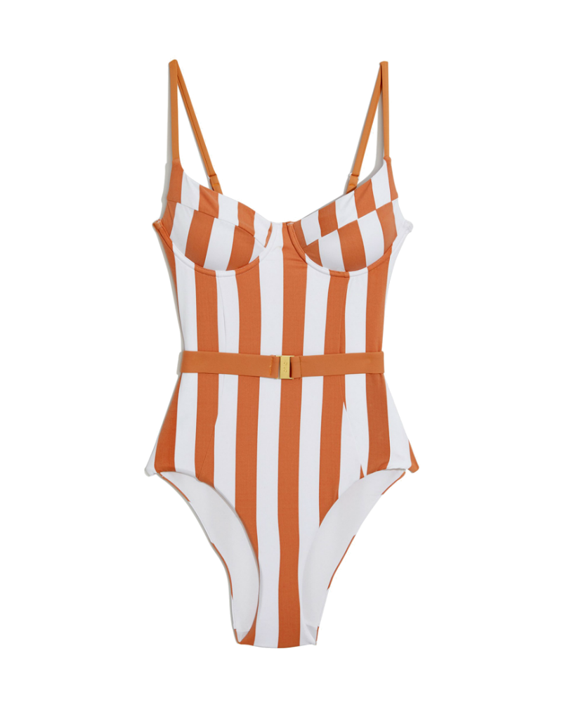 Onia x WeWoreWhat Danielle One Piece - Nude/Stripe
