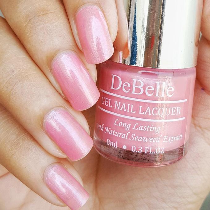 DeBelle Gel Nail Lacquer Miss Bliss (Pink Shimmer Nail Polish)