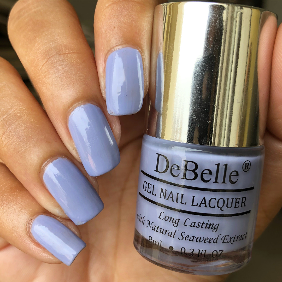 DeBelle Gel Nail Lacquer Blueberry Bliss (Pastel Purple Nail Polish)