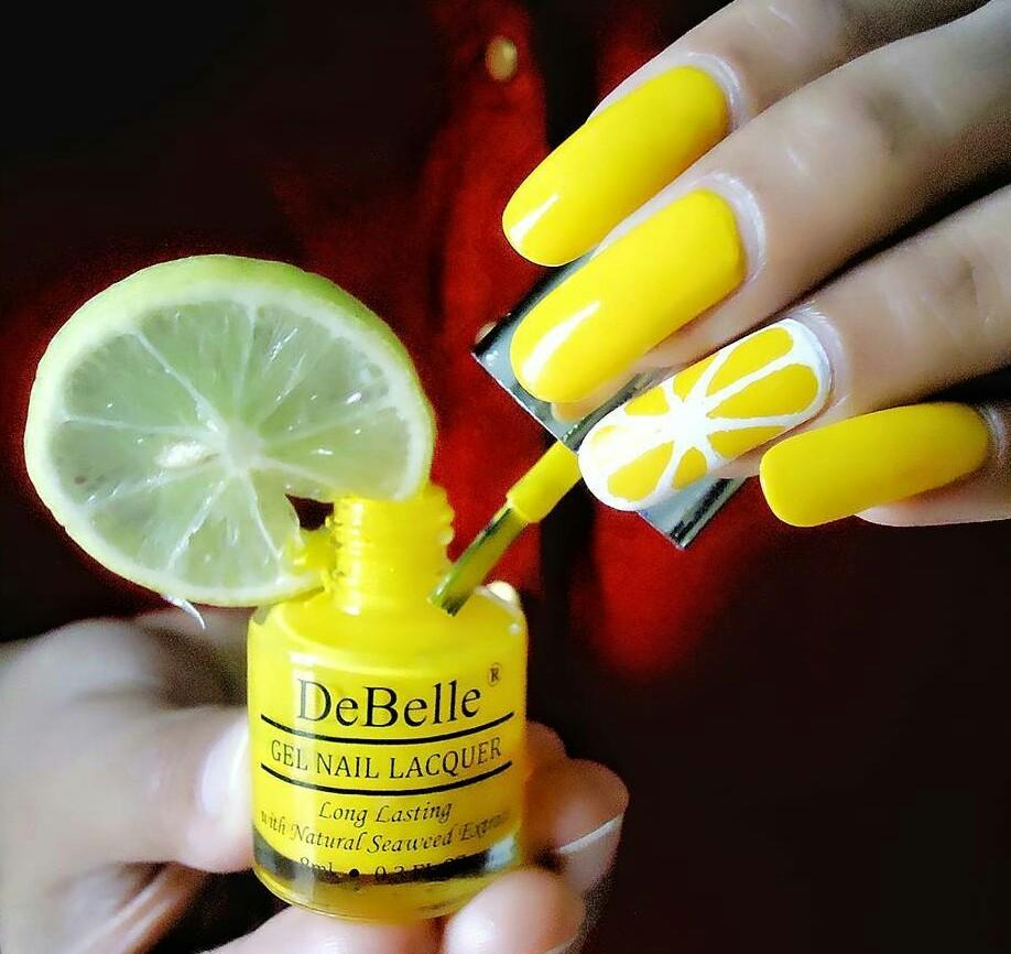 DeBelle Gel Nail Lacquer Caramelo Yellow (Yellow Nail Polish)