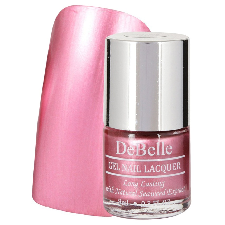 DeBelle Gel Nail Lacquer Chrome Glaze (Chrome Pink Nail Polish)
