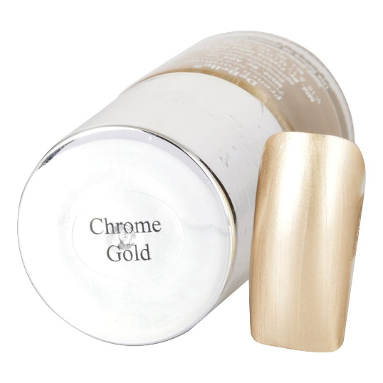 DeBelle Gel Nail Lacquer Chrome Gold (Bright Chrome Gold Nail Polish)