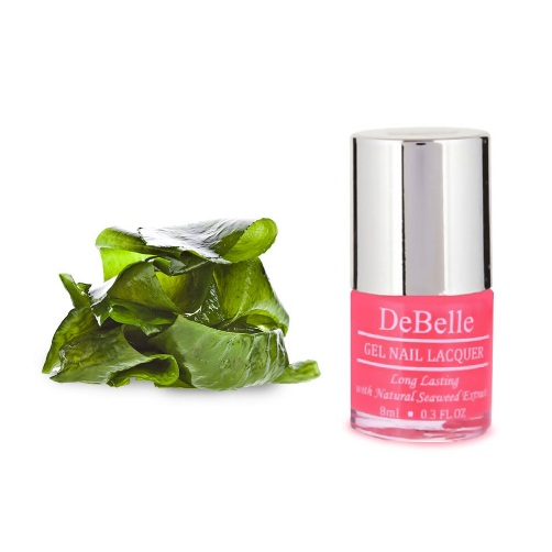 DeBelle Gel Nail Lacquer Fuschia Rose (Bright Pink Nail Polish)