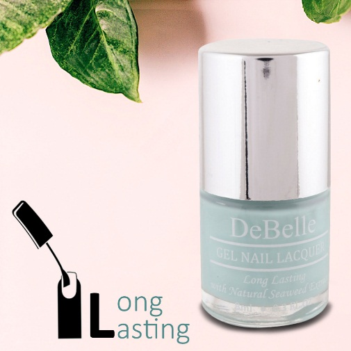 DeBelle Gel Nail Lacquer Mint Amour (Mint Blue Nail Polish)
