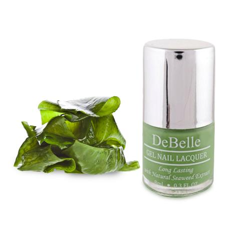 DeBelle Gel Nail Lacquer Mystique Green (Pastel Green Nail Polish)