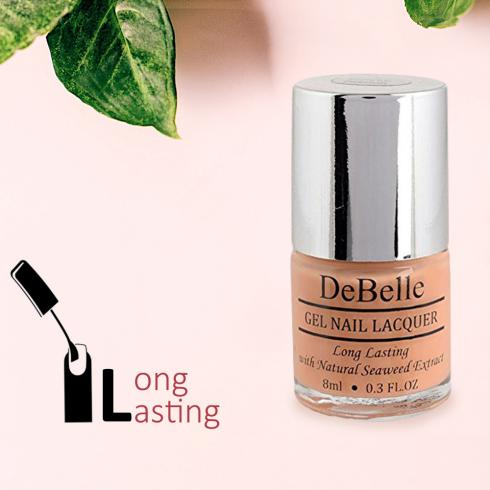 DeBelle Gel Nail Lacquer Peachy Passion (Peach Nail Polish)