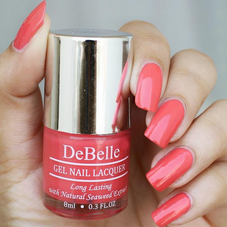 DeBelle Gel Nail Lacquer Princess Belle (Coral Orange Nail Polish)