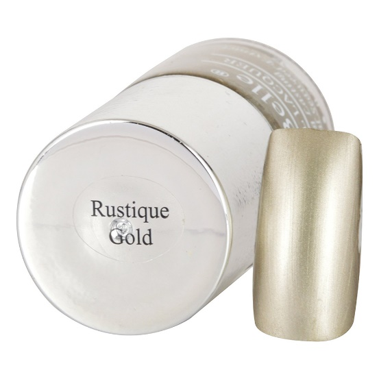 DeBelle Gel Nail Lacquer Rustique Gold (Chrome Rustic Gold Nail Polish)
