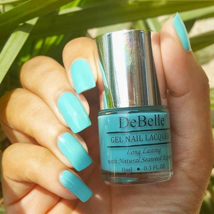 DeBelle Gel Nail Lacquer Tahiti Teal (Teal Green Nail Polish)