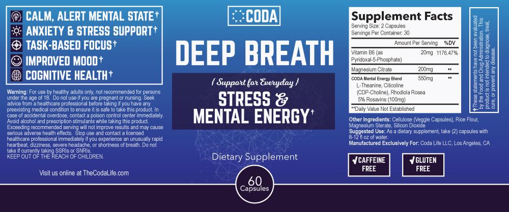 Deep Breath Label
