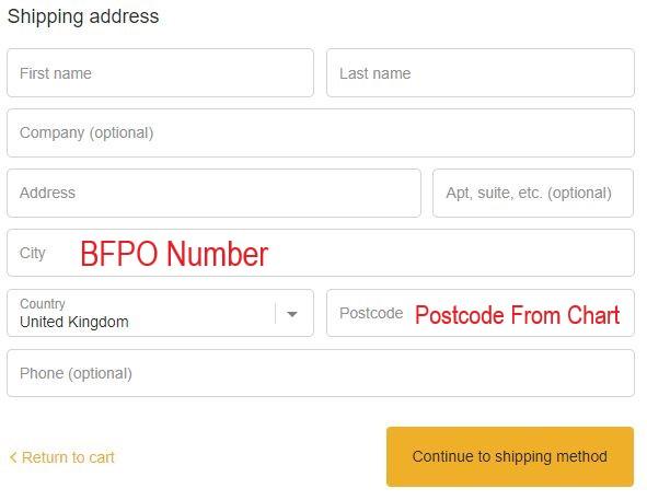 BFPO Postcodes & Numbers | UKMCPro — UKMCPro co uk
