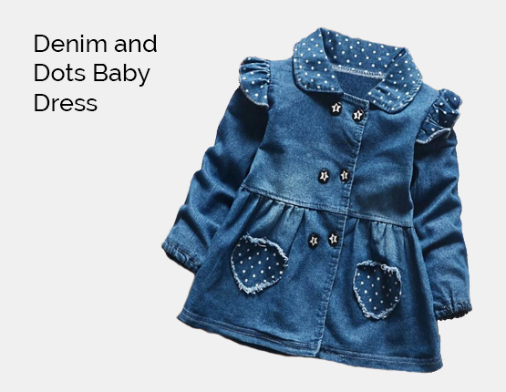 Denim and Dots Baby Dress