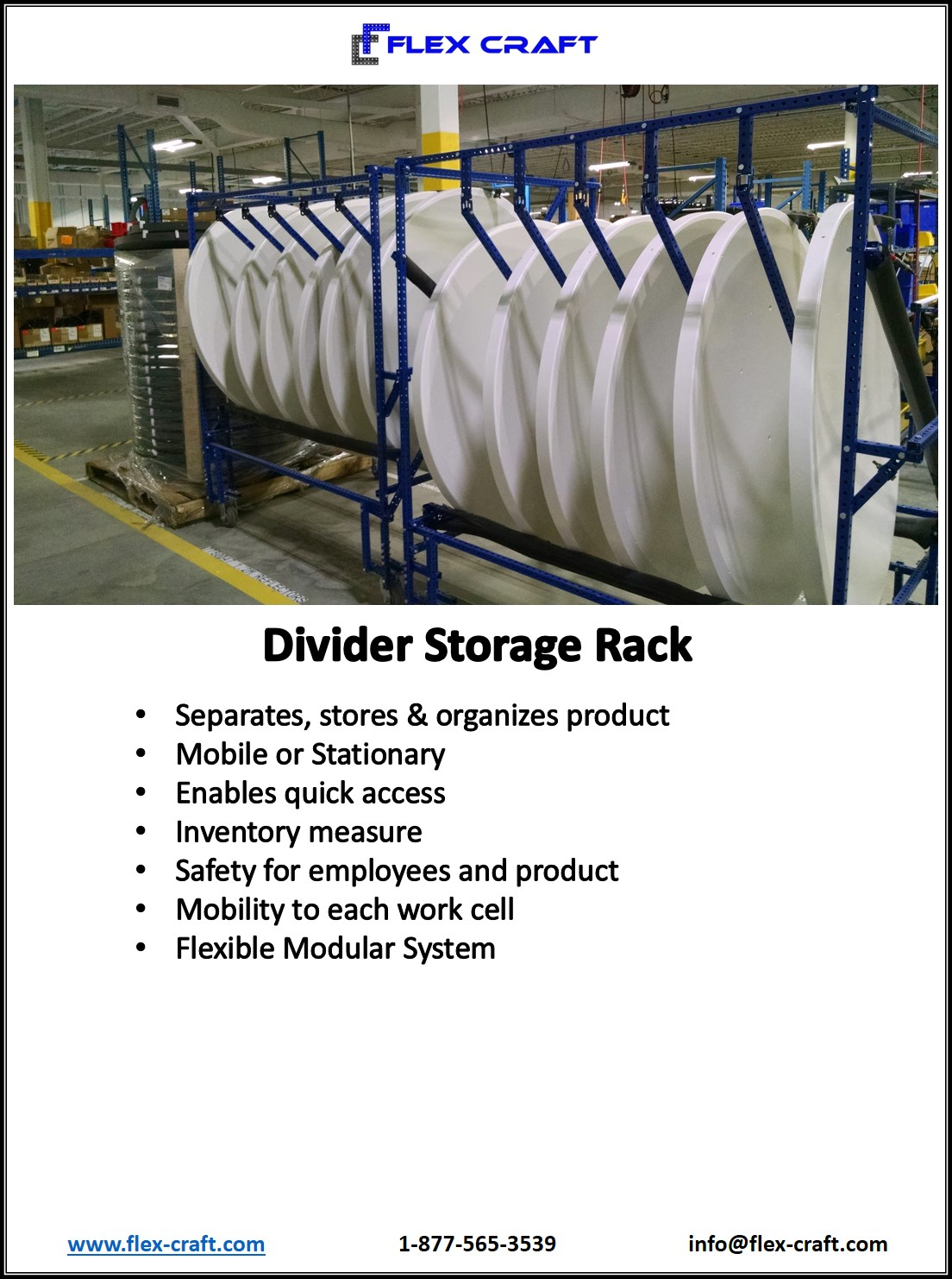 Vertical Divider Storage Rack
