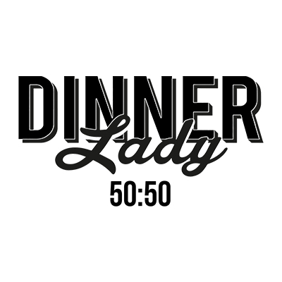 Dinner Lady 50/50 Logo