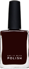 Dark Maroon Nail Polish
